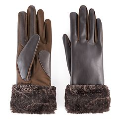 Women's isotoner Faux Fur Cuff Tech Gloves