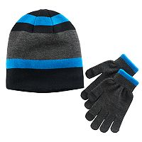 Boys Tek Gear® Striped Hat & Gloves Set