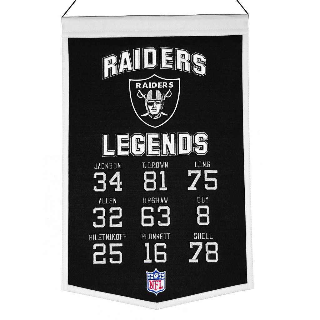 Winning Streak Oakland Raiders Legends Banner