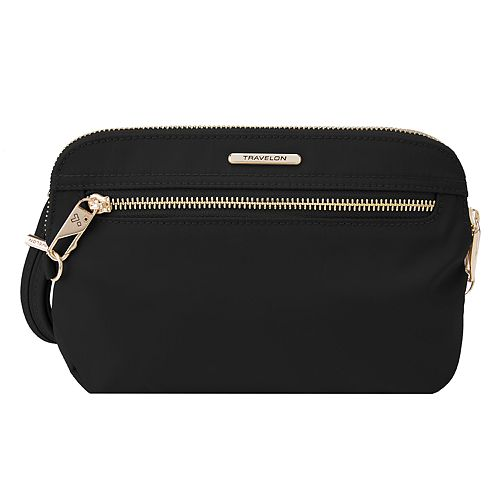 Travelon Anti-Theft Tailored Convertible Clutch Crossbody Bag