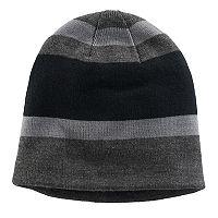 Boys Tek Gear® Striped Sherpa-Lined Beanie