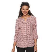 Women's Croft & Barrow® Pintuck Button-Down Top