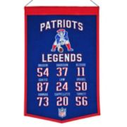 Winning Streak New England Patriots Legends Banner