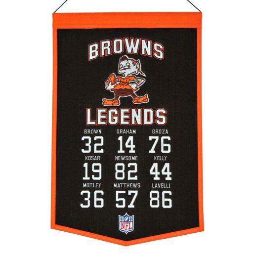Winning Streak Cleveland Browns Legends Banner