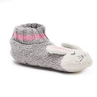 Women's SO® Knit Bunny Gripper Slipper Socks