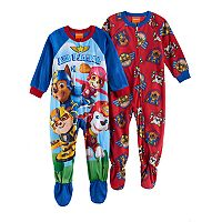 Toddler Boy Paw Patrol Chase, Marshall, Rubble & Skye Fleece One-Piece Footed Pajama Set