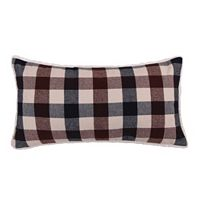 Levtex Lodge Plaid Faux Fur Oblong Throw Pillow