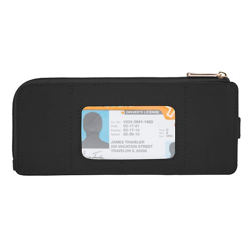 Travelon Tailored Slim Zip Wallet