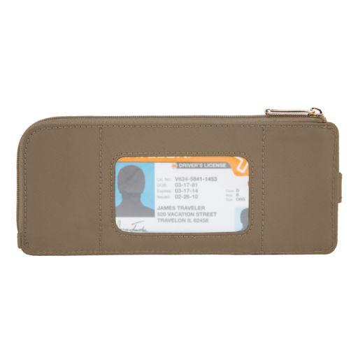 Travelon Tailored Slim Zip Wallet
