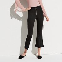 k/lab Zip-Front Flare Crop Pants