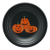 Fiesta Trio Of Happy Pumpkins 9-in. Luncheon Plate