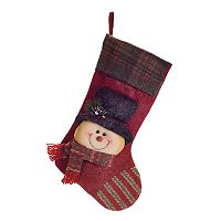 Melrose Red Snowman Christmas Stocking