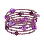 1928 Faceted Bead & Seed Bead Coil Bracelet