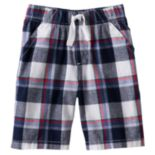 Boys 4-7x Jumping Beans® Plaid Shorts