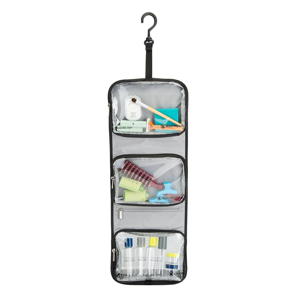 Travelon Trifold Wet-Dry Quart Bag with Bottles