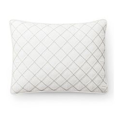 Chaps Round Bead Embroidered Quilted Throw Pillow