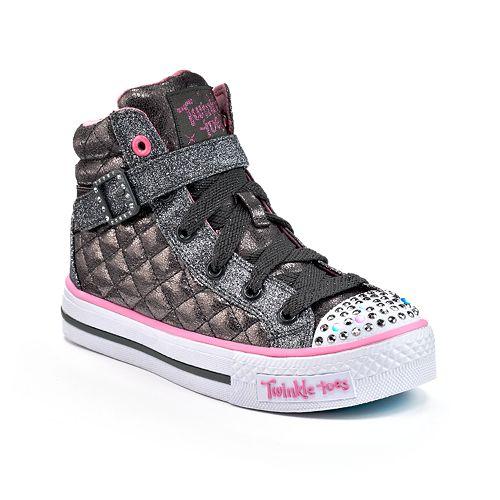 Skechers Twinkle Toes Shuffles Sweetheart Sole Girls  Light-Up Sneakers 789865e4fb8