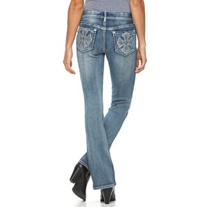 Women's Apt. 9® Embroidered Rhinestone Bootcut Jeans