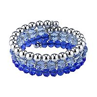 1928 Polished & Faceted Bead Coil Bracelet