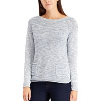 Petite Chaps Marled Boatneck Sweater