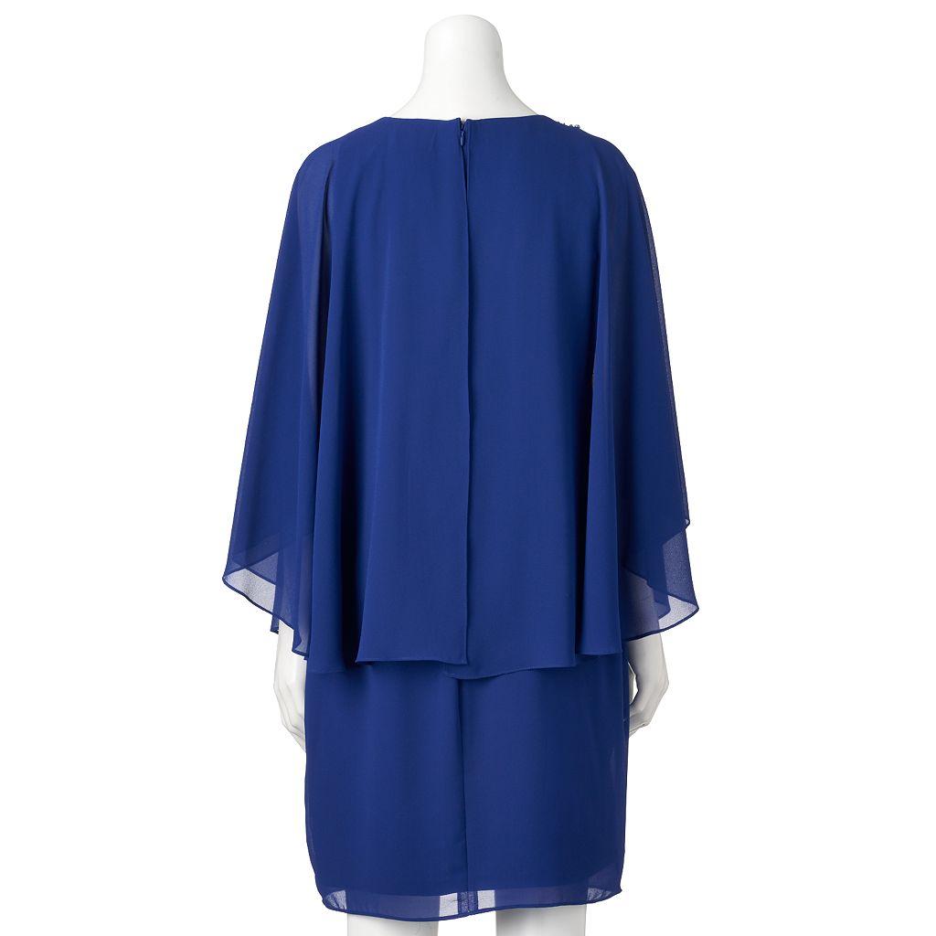 Women's Jessica Howard Embellished Capelet Sheath Dress