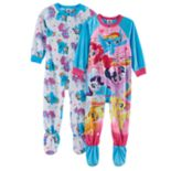 Toddler Girl My Little Pony 2 pkFleece Footed Pajamas