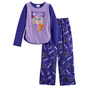 Girls 6-14 Minecraft Alex Top & Bottoms Pajama Set
