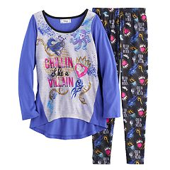Disney's Descendants Girls 6-14 'Chillin Like a Villain' Tee & Bottoms Pajama Set