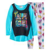 Girls 4-10 DC Comics Wonder Woman, Batgirl, Supergirl & Harley Quinn Graphic Tee & Bottoms Pajama Set