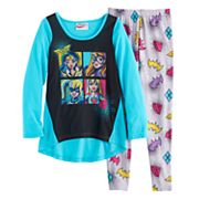 Girls 4-10 DC Comics Wonder Woman, Batgirl, Supergirl & Harley Quinn Graphic Tee & Bottoms Pajama Set