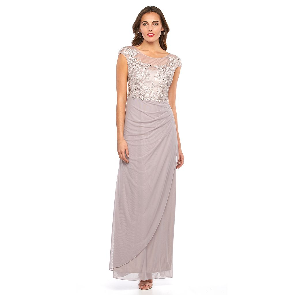 1 by 8 Beaded Pleated Evening Gown - Women's