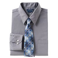Men's Croft & Barrow® Classic-Fit Dress Shirt & Tie Set