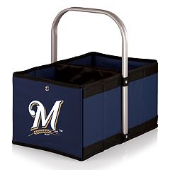 Picnic Time Milwaukee Brewers Urban Folding Picnic Basket