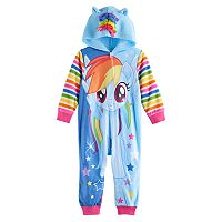 Toddler Girl My Little Pony Rainbow Dash Hooded Footless Pajamas