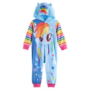 Toddler Girl My Little Pony Rainbow Dash Hooded Footless Pajamas
