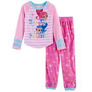 Girls 4-8 Shimmer & Shine Top & Fleece Bottoms Pajama Set