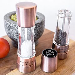 Derwent Gourmet Precision Copper Salt & Pepper Mill Set