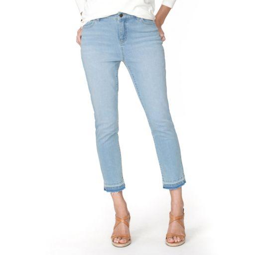 Women's Chaps Release-Hem Crop Skinny Jeans