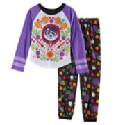 Disney / Pixar Coco Girls 4-10 Top & Bottoms Pajama Set