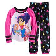 Girls 4-10 DC Comics Wonder Woman Lasso Tee & Bottoms Pajama Set