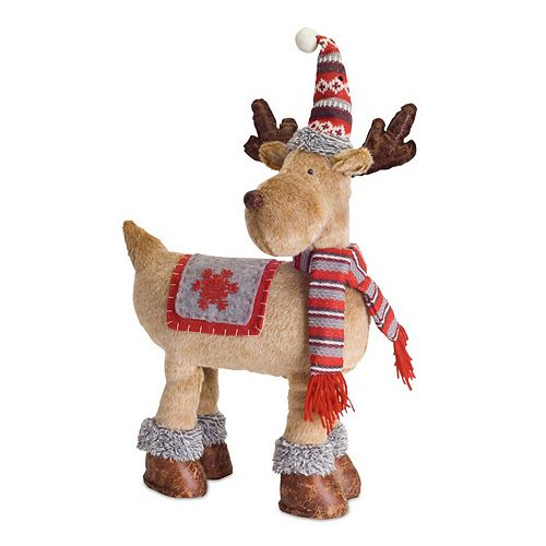 Melrose Tall Hat Deer Floor Decor