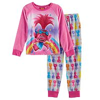 DreamWorks Trolls Poppy Girls 4-12 Plush Top & Bottoms Pajama Set
