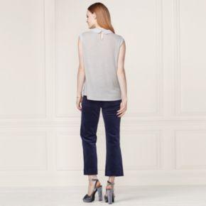 LC Lauren Conrad Runway Collection Embellished Collar Top - Women's