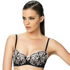 Paramour by Felina Bra: Priscilla Sheer Unlined Full-Figure Demi Bra 110019