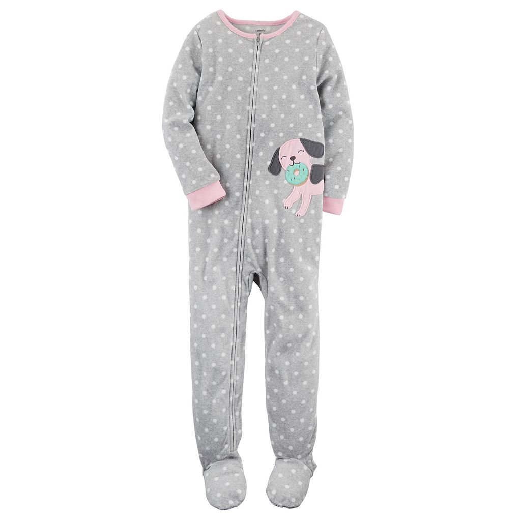 Girls 4-14 Carter's Polka-Dot Footed Pajamas