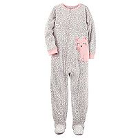 Girls 4-14 Carter's Polka-Dot Footed Pajamas
