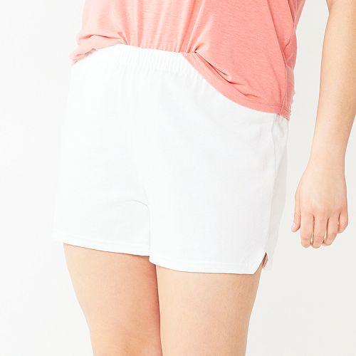 Juniors' Plus Size Soffe Curves Classic Shorts
