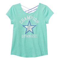 Girls 7-16 SO® Criss Cross Back Active Graphic Tee