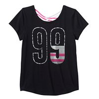 Girls Plus Size SO® Criss Cross Back Active Graphic Tee