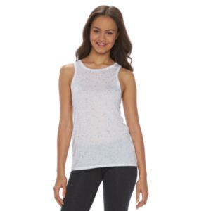 Juniors' SO® High Neck Texture Tank Top